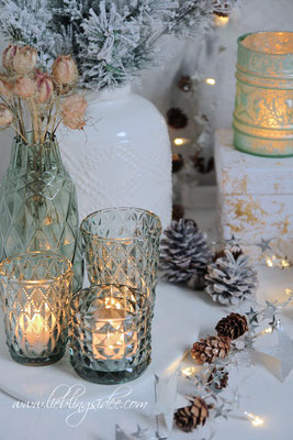 Funkelnde Dekoration für Advent und Weihnachten