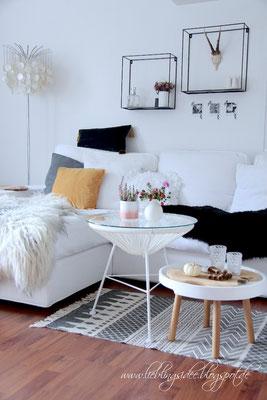 Herbstliche Dekoration Wohnzimmer
