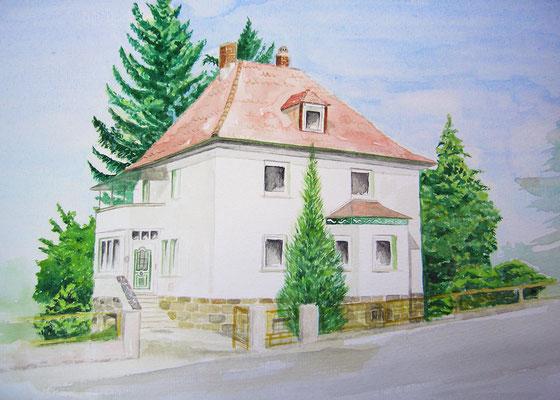 Haus in Aquarell