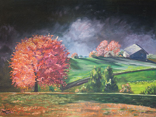 Herbst in Acryl
