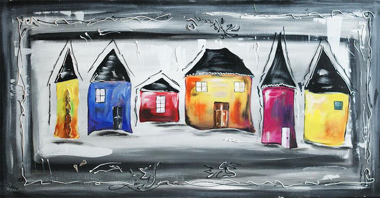 Häuser in Acryl