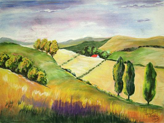 Landschaft in Kreide