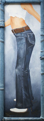 Jeans in Acryl