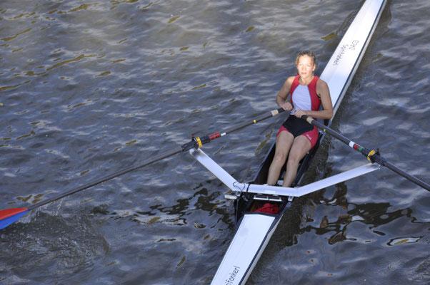 Laura Kerschl siegte im Mädchen Einer als Leichtgewicht bei den Schweren
