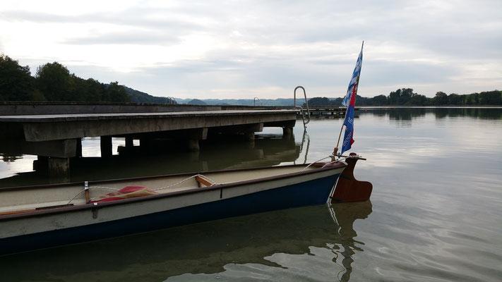 Seebad mit Steg am Mattsee