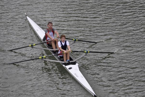 Junioren Doppelzweier B S. Huber und J. Herpich