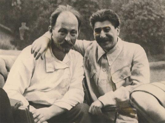 Феликс Дзержинский и Иосиф Сталин на отдыхе. 1924 год