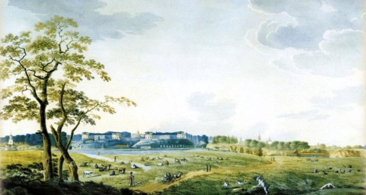 П.П. Свиньин - Архангельское. Вид усадьбы. 1824 г