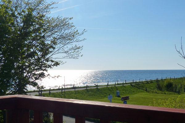 Blick von der Balustrade auf die Ostsee