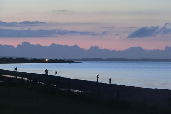 Abends am Strand vor dem Seehof