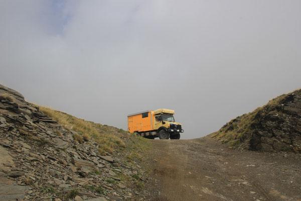 Unimog am 1. Pass, 2170 m