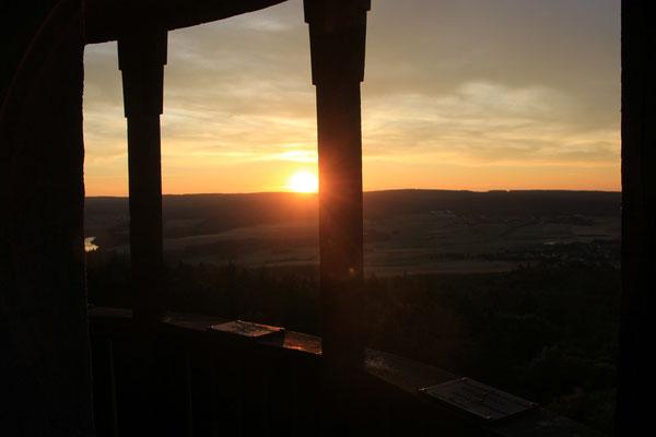 Sonnenntergang, Wildenburg Hunsrück