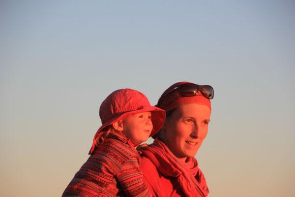 Stephanie Sarahbeim Sonnenuntergang Korallenriff