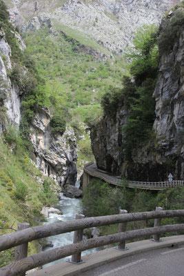 Fahrt nach Cain, Gargantas de Caires, Picos de Europa
