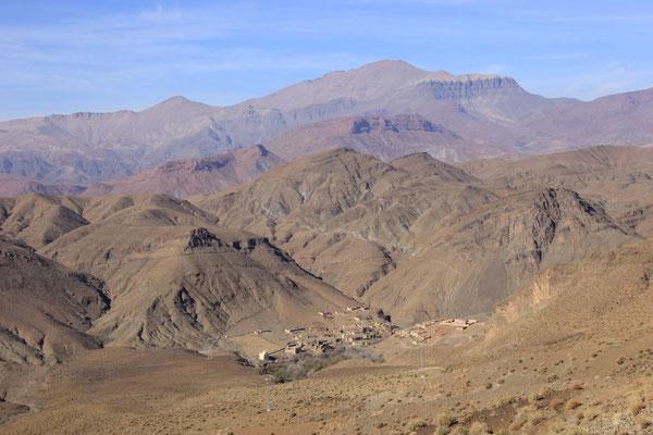 Dorf in den Bergen Richtung Demnate