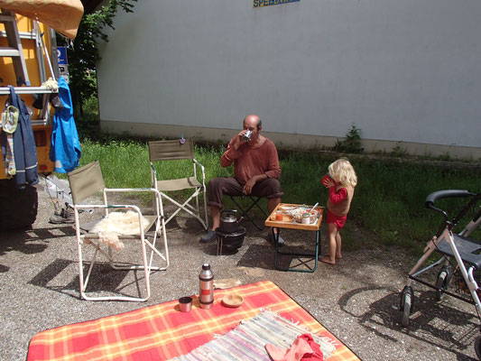Grillen am Standplatz Olching