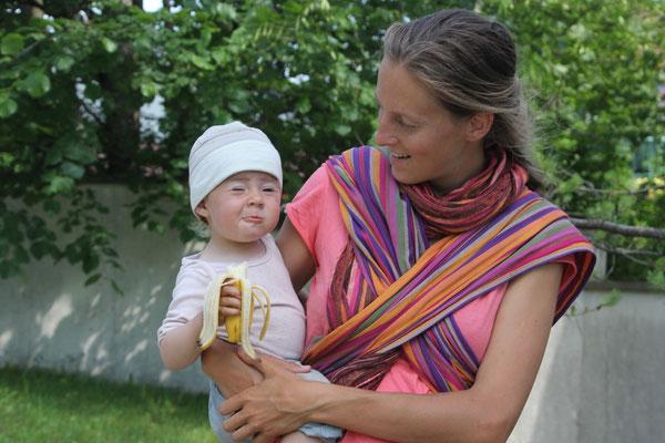 Sarah mit Banane, St.Otilien