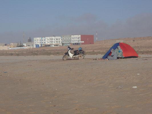 Marokkaner am Strand El Ouita