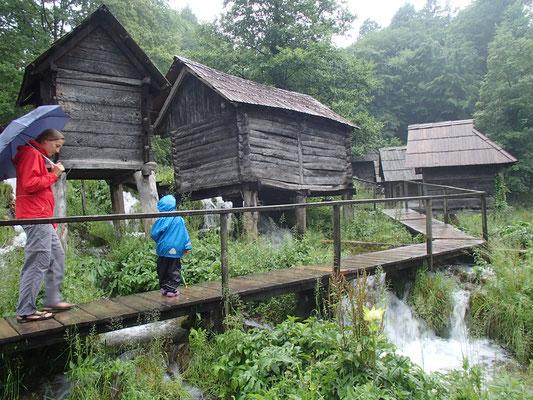 Regensparziergang, Jajce, wieder an der Piva
