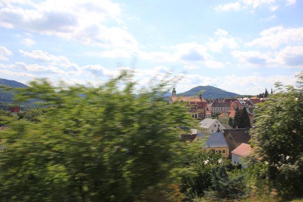 Fahrt durch Tschechien