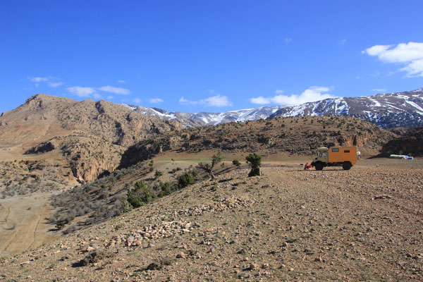 Standplatz oberhalb Schlucht Jaffer ca. 2000 m