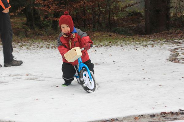 Winterradeln am Walchensee