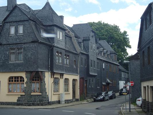 Schiefergebäude in Lehesten