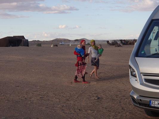 Treffen mit Eva, Christian, Josha, Etoile le dune