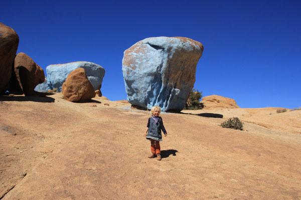 Sarah, Painting Rocks