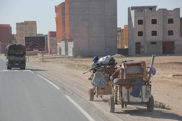 Eselkarren Richtung Agadir