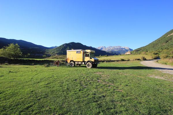 Standplatz im Valle de Hecho
