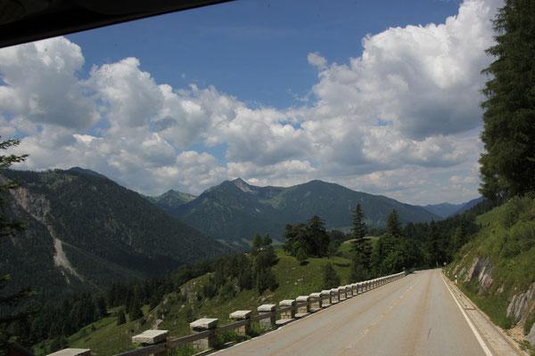 Fahrt Richtung Bayrischzell