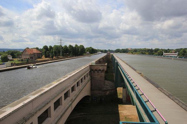 Wasserstrasse alt neu Mittellandkanal