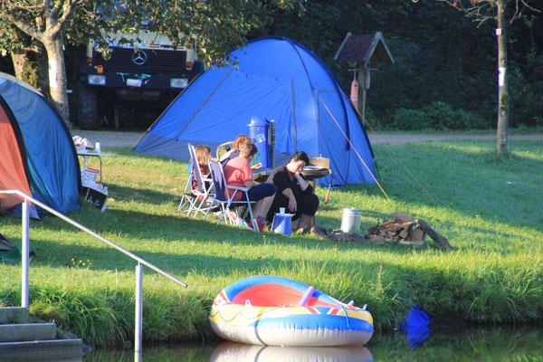 Jugendlager morgens, Ebenreuther See
