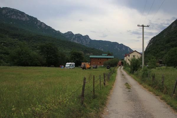 letzter Campingplatz in Monte Negro
