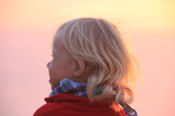 Sarah im Abendlicht, terre de ocean