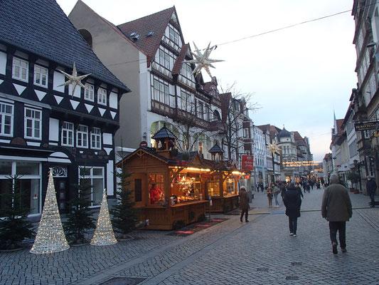 weihnachtliche Fußgängerzone Hameln