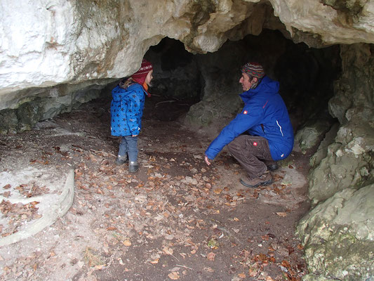 Höhlenbesuch an der Altmühl