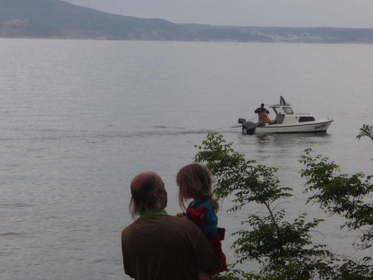 Fischer bei der Arbeit, morgens
