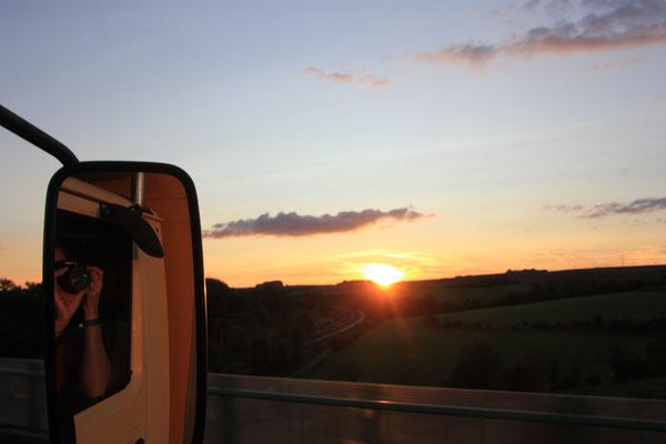 Sonnenuntergang Nähe Erfurt