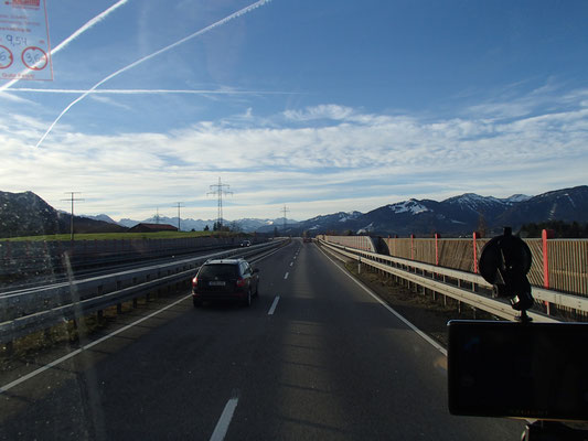 Arbeitsfahrt Richtung Allgäuer Alpen