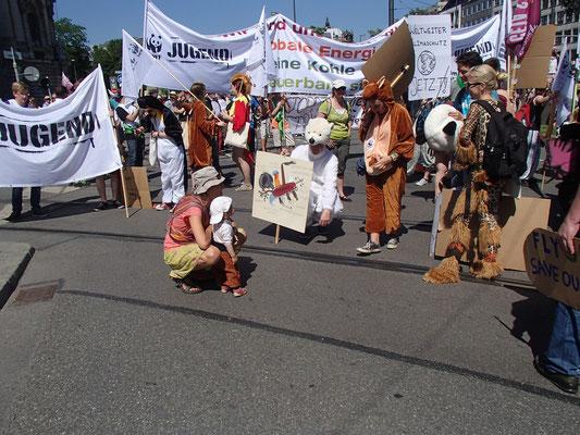 Demo in München, G 7 Gipfel