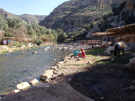 Picknick an der Quelle bei Ouzoud