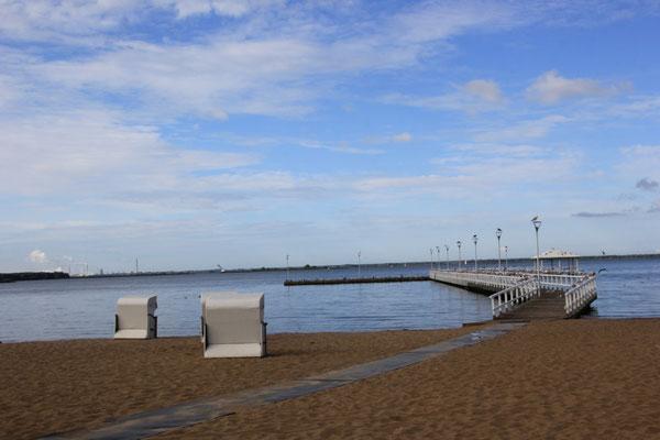 Strand Stepnike, Stettiner Haff