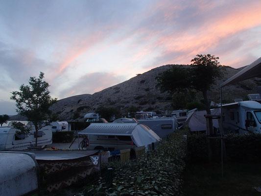 Abendlicht am Camping