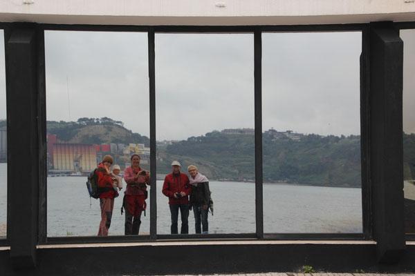 Glasbild, Helene, Friedel und wir, Lisabon