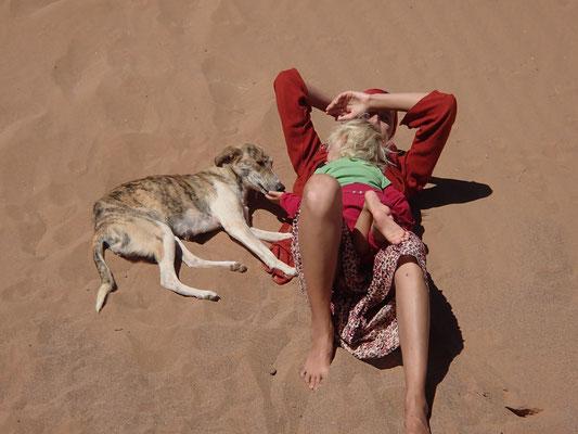 alle müde, Standplatz Sahara Sky