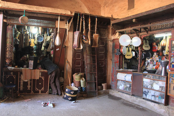 Musikinstrumentesouk, Meknes