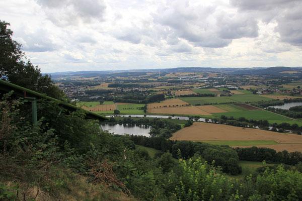 Blick ins Weserbergland bei Porta Westfalica