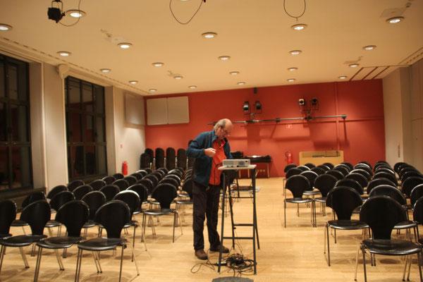 Martin vor dem Vortrag